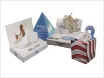 Custom printed promotional tissue boxes kleenex tissue boxes with logo