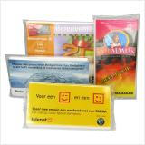 promotional pocket tissues personalized with full colour printed inlay